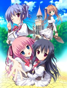 Rating: Safe Score: 33 Tags: kamiyagi_ruriko kitamikado_ritsuko moonstone princess_evangile rousenin_rise saeki_nao sagisawa_chiho seifuku yamakaze_ran User: Veshurik