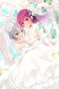 Rating: Safe Score: 24 Tags: dress magia_record:_mahou_shoujo_madoka_magica_gaiden naga_(pixiv) no_bra puella_magi_madoka_magica shinobu_akira_(magia_record:_mahou_shoujo_madoka_magica_gaiden) tokiwa_nanaka wedding_dress yuri User: Mr_GT