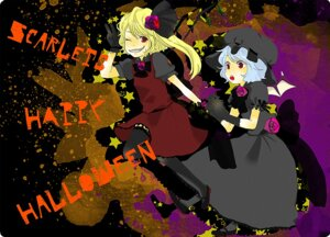 Rating: Safe Score: 5 Tags: flandre_scarlet halloween kan_(oceanchart) remilia_scarlet touhou User: Shamensyth