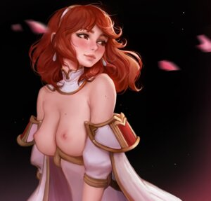 Rating: Questionable Score: 30 Tags: breasts celica_(fire_emblem) daria_leonova dress fire_emblem fire_emblem_echoes nipples no_bra User: Darkthought75