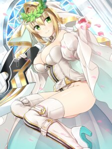 Rating: Safe Score: 33 Tags: bodysuit cleavage fate/extra fate/extra_ccc fate/stay_night heels nomu_ra_nomu saber_bride saber_extra thighhighs User: Mr_GT