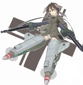 Rating: Safe Score: 7 Tags: animal_ears gertrud_barkhorn gun pantsu strike_witches tail yuoitametsu User: Radioactive