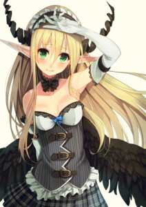 Rating: Safe Score: 78 Tags: cleavage elf horns paseri pointy_ears wings User: blooregardo