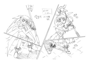 Rating: Questionable Score: 3 Tags: mahou_shoujo_lyrical_nanoha monochrome tagme User: Radioactive