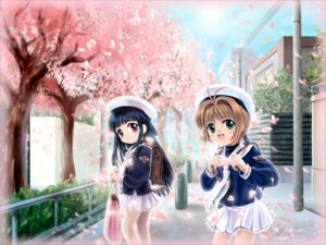 Rating: Safe Score: 17 Tags: card_captor_sakura daidouji_tomoyo kinomoto_sakura moonknives seifuku wallpaper User: saffy