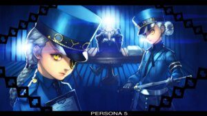 Rating: Safe Score: 6 Tags: boyaking business_suit caroline_(persona_5) eyepatch igor justine_(persona_5) persona_5 police_uniform weapon User: charunetra