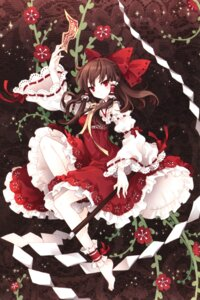 Rating: Safe Score: 62 Tags: hakurei_reimu screening tearfish touhou winter_forest User: fireattack