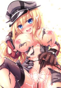 Rating: Explicit Score: 78 Tags: bismarck_(kancolle) breasts cum kantai_collection nipples no_bra pantsu panty_pull pussy tagme thighhighs torn_clothes User: 麻里子
