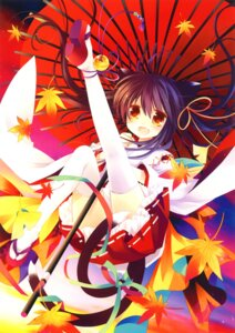 Rating: Safe Score: 40 Tags: animal_ears miko sakurazawa_izumi tail thighhighs User: WtfCakes
