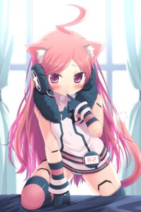 Rating: Questionable Score: 114 Tags: amamiya_minato animal_ears cameltoe headphones miki_(vocaloid) nekomimi pantsu tail vocaloid User: Shamensyth