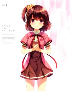 Rating: Safe Score: 50 Tags: color_issue komiya_nonoka seifuku sora_no_method User: JamesXeno