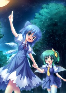 Rating: Safe Score: 31 Tags: cirno daiyousei takeponi_an thighhighs touhou wings User: Mr_GT