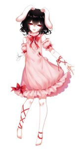 Rating: Safe Score: 33 Tags: animal_ears bunny_ears dress feet inaba_tewi sheya touhou User: charunetra