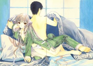 Rating: Questionable Score: 10 Tags: chii chobits clamp gap motosuwa_hideki no_bra open_shirt pajama pantsu User: Radioactive
