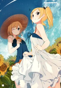 Rating: Safe Score: 60 Tags: dress miyamori_aoi nmaaaaa shirobako skirt_lift yano_erika User: Twinsenzw