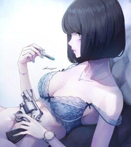 Rating: Questionable Score: 38 Tags: bottomless bra gun koh_(minagi_kou) User: BattlequeenYume