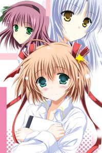 Rating: Safe Score: 23 Tags: angel_beats! kamikita_komari little_busters! tenshi tsukishima_kai yurippe User: mahoru