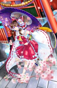 Rating: Safe Score: 25 Tags: 13_(spice!!) hakurei_reimu sarashi touhou umbrella User: Mr_GT