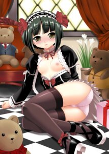 Rating: Questionable Score: 32 Tags: breasts gothic_lolita kaibarakeiya lolita_fashion maid nipples pantsu thighhighs User: Onpu
