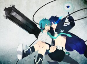 Rating: Safe Score: 18 Tags: black_rock_shooter black_rock_shooter_(character) genderswap hatsune_mikuo male vocaloid yaoi yin2000 User: pikomint