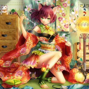 Rating: Safe Score: 56 Tags: animal_ears kasugaya neko nekomimi yukata User: Schezza