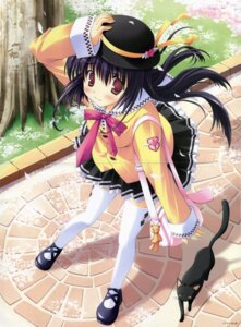 Rating: Safe Score: 10 Tags: crease fixme ikegami_akane neko seifuku thighhighs User: kekeconan