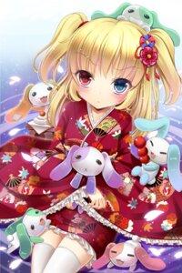 Rating: Safe Score: 71 Tags: boku_wa_tomodachi_ga_sukunai hasegawa_kobato heterochromia kimono shimokirin thighhighs User: fairyren