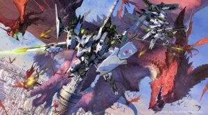 Rating: Safe Score: 35 Tags: gun landscape mecha monster takayama_toshiaki weapon wings User: tbchyu001