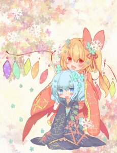 Rating: Safe Score: 18 Tags: flandre_scarlet kimono remilia_scarlet touhou wings yuu_shin User: Zenex