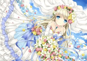 Rating: Safe Score: 22 Tags: cleavage dress wataame27 wedding_dress User: ddns001