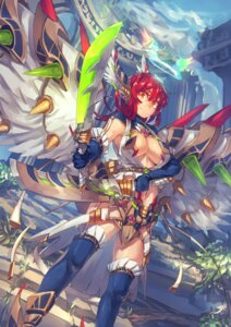 Rating: Safe Score: 21 Tags: armor cleavage no_bra open_shirt sword temmasa22 thighhighs wings User: Mr_GT
