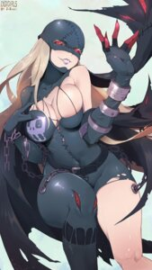 Rating: Safe Score: 38 Tags: digimon johnson_zhuang ladydevimon monster_girl pantyhose torn_clothes wings User: charunetra