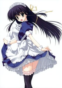 Rating: Safe Score: 34 Tags: maid nanao_naru skirt_lift thighhighs User: crim