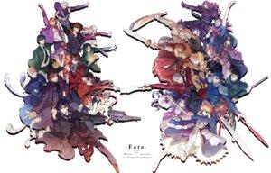 Rating: Safe Score: 11 Tags: caster_(fate/zero) diarmid_o'dyna emiya_kiritsugu emiya_shirou fate/stay_night fate/zero gilgamesh_(fsn) gun kayneth_archibald_el-melloi kotomine_kirei lancer_(fate/zero) matou_kariya rider_(fate/zero) saber sword toosaka_tokiomi uryuu_ryuunosuke waver_velvet weapon yukihime User: dyj