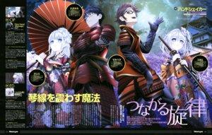 Rating: Safe Score: 20 Tags: akutagawa_koyori armor hand_shakers kimono makihara_nagamasa megane sword uchida_takayuki umbrella User: drop