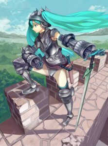 Rating: Safe Score: 23 Tags: armor hatsune_miku ryman sword thighhighs vocaloid User: charunetra