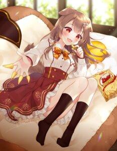 Rating: Safe Score: 17 Tags: animal_ears feet hololive inugami_korone inumimi naomi_(fantasia) skirt_lift tail User: Dreista