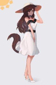 Rating: Safe Score: 18 Tags: animal_ears dress ehrrr heels imaizumi_kagerou tail touhou User: Mr_GT