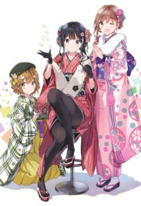 Rating: Safe Score: 88 Tags: adagaki_aki fujinomiya_neko kimono koiwai_yoshino masamune-kun_no_revenge pantyhose tiv User: Twinsenzw