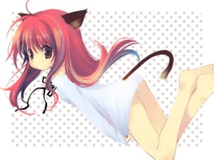 Rating: Questionable Score: 23 Tags: animal_ears detexted ikusabe_lu loli nekomimi pantsu tail wallpaper User: admin2