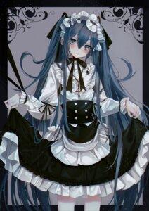 Rating: Safe Score: 29 Tags: dress ei_(tndusdldu) gothic_lolita hatsune_miku lolita_fashion skirt_lift vocaloid User: Mr_GT