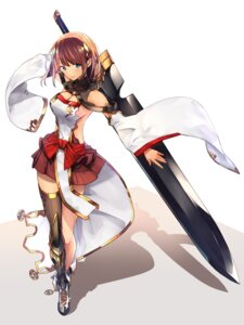 Rating: Safe Score: 45 Tags: armor baffu cleavage no_bra sword thighhighs User: Mr_GT