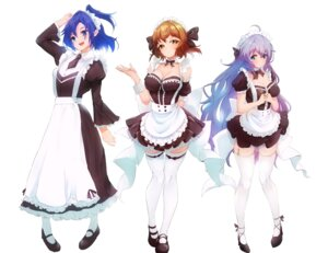 Rating: Safe Score: 24 Tags: akisuko cleavage heels kazanari_tsubasa maid see_through senki_zesshou_symphogear stockings tachibana_hibiki thighhighs yukine_chris User: BattlequeenYume