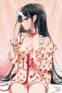 Rating: Safe Score: 32 Tags: cleavage horns kinty pajama pointy_ears User: Dreista