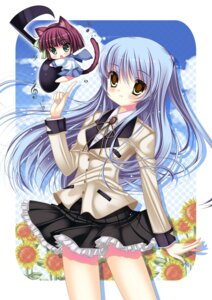 Rating: Safe Score: 20 Tags: angel_beats! animal_ears masushita_ito nekomimi seifuku tail tenshi yurippe User: Radioactive