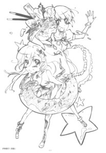 Rating: Safe Score: 6 Tags: itou_youko monochrome sketch User: superogira