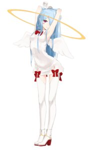 Rating: Questionable Score: 55 Tags: dress heels miruto_netsuki thighhighs wings User: nphuongsun93