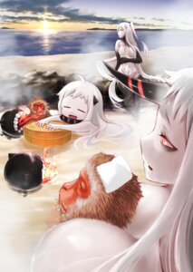 Rating: Questionable Score: 33 Tags: aircraft_carrier_hime bathing breasts kantai_collection naked no_bra nopan northern_ocean_hime saitou_mei_(meigetsu) seaport_hime torn_clothes wet User: Mr_GT