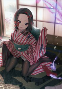 Rating: Questionable Score: 41 Tags: kimono pantyhose screening skirt_lift wntame User: StardustKnight
