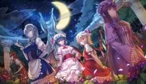 Rating: Safe Score: 36 Tags: flandre_scarlet hong_meiling izayoi_sakuya patchouli_knowledge remilia_scarlet ryuuzaki_itsu touhou wings User: Mr_GT